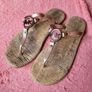 Michael Kors Charm Jelly sandal rose pink sz 10